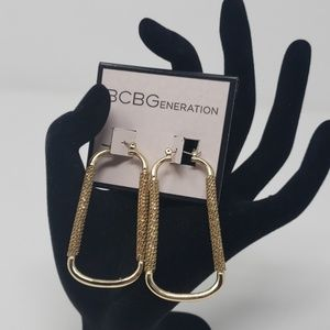 NWT. BC the generation rectangle hoop earrings